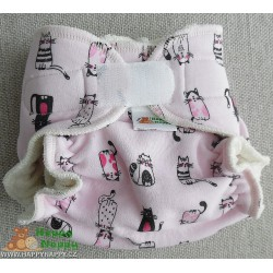 Kalhotová plenka -Kočka na růžové