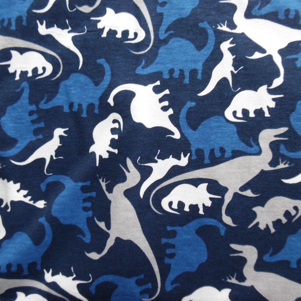 Dinosauři na tmavě modré 100% Ba