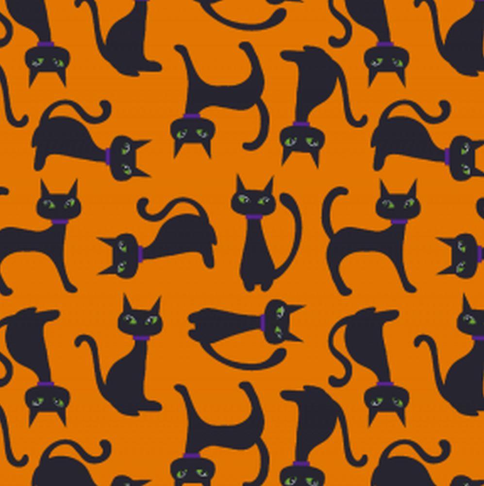 PUL kočky na oranžové
