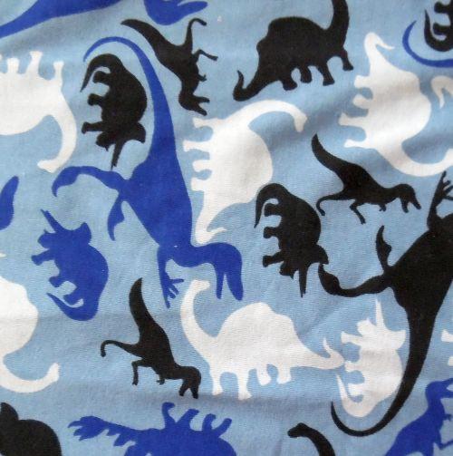 Dinosauři na sv. modré 100% Ba